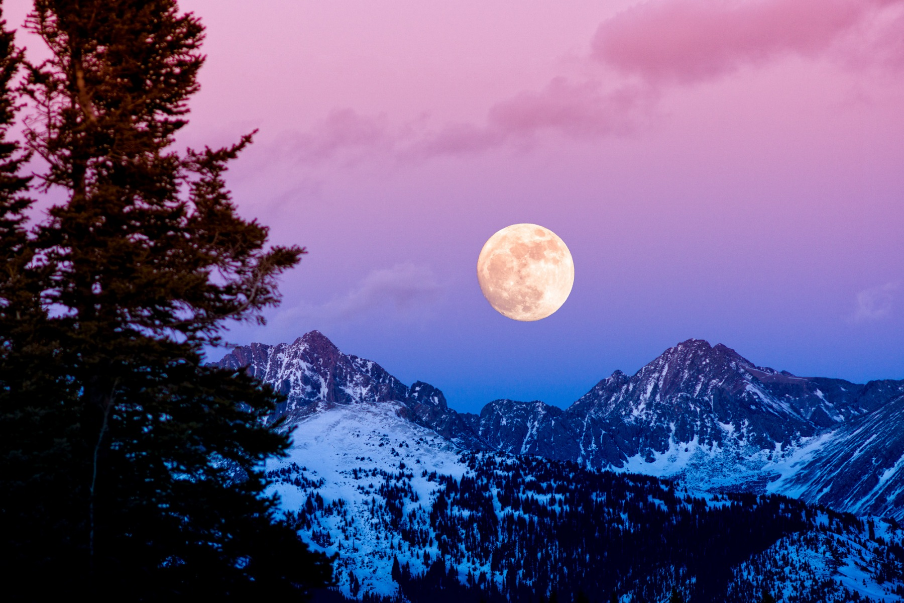 Gore Range Sunset Moonrise