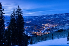 Beaver Creek Colorado Scenic View at Dusk