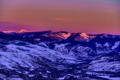 View of Vail Valley at Sunset and Dusk